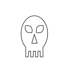 scary halloween skull icon vector image