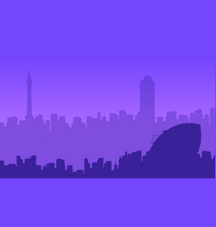 silhouette of london city beauty landscape vector image vector image