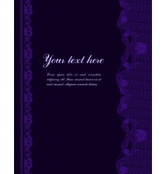 violet vintage lacy border vector image