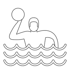 Water polo player icon simple style vector image