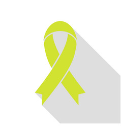 black awareness ribbon sign pear icon with flat vector image vector image