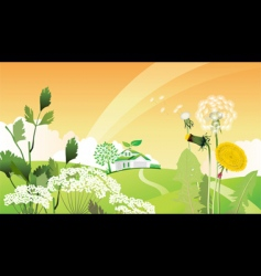 country landscape with house vector image