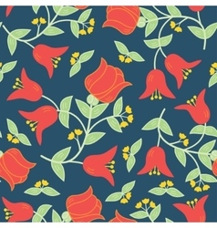 flowers seamless pattern in traditional vector image vector image