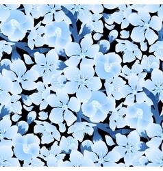 Graphic sakura pattern vector image