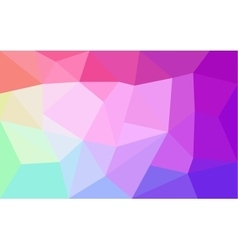 Rainbow colors triangular pattern vector image vector image