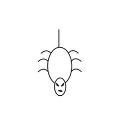 scary spider icon vector image vector image