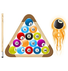 billiard ball in flame vector image vector image