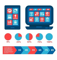 flat web and infographics elements vector image vector image