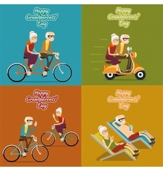 Happy grandparents day background poster vector image vector image