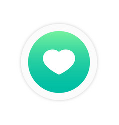 heart icon sign vector image
