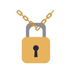 padlock chain security protection image vector image vector image