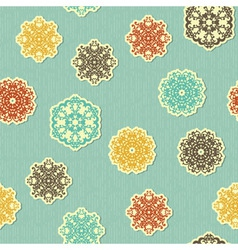 seamless pattern with paper cut snowflakes vector image vector image