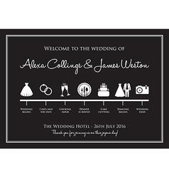 Wedding timeline vector