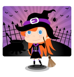 Witch Halloween Girl vector image vector image