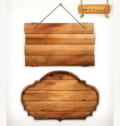 wooden board old wood vector image