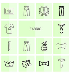 14 fabric icons vector