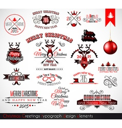 2015 christmas decoration set of calligraphic vector