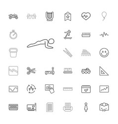 33 line icons vector
