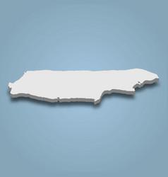 3d isometric map madura is an island vector