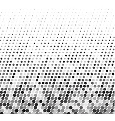 Abstract gray halftone background with curved dots vector