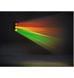 Abstract traffic lights in fog background vector