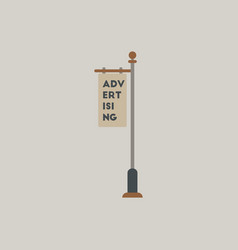 Advertising billboard on old style street lamppost vector