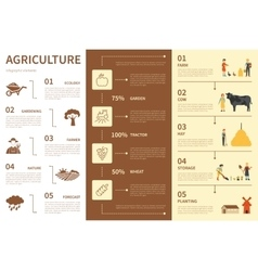 Agriculture infographic flat vector image