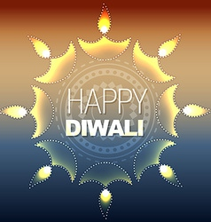 Artistic happy diwali vector
