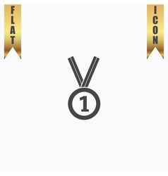 award medal icon with ribbon eps10 vector image