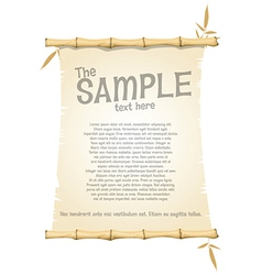 Bamboo document template vector