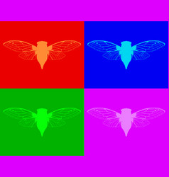 beautiful cicadas vector image