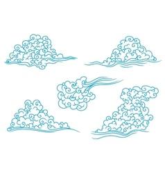 Blue clouds set vector image