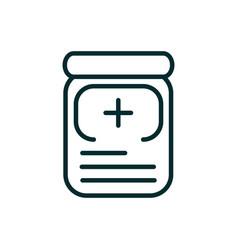 bottle pharmacy medicine equipment medical icon vector image
