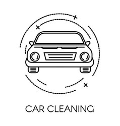 Car cleaning service company clean transport vector