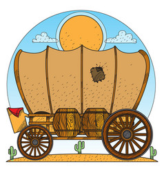 cartage carriage cowboy former transport and vector image