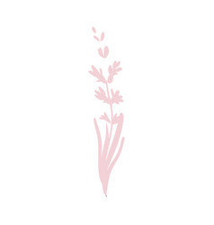 cartoon abstract pink flower icon vector image