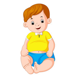 cartoon cute baby vector image