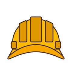 cartoon helmet head protective industrial design vector image