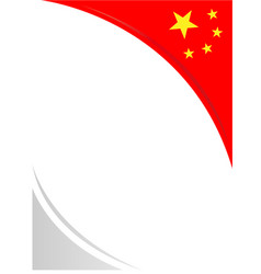 Chinese flag corner frame vector