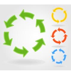 circulation arrow vector image