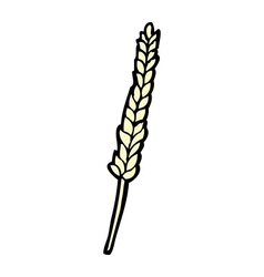 Comic cartoon corn vector