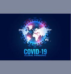 Covid19-19 coronavirus global pandemic background vector
