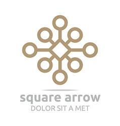 Design square connecting icon symbol abstract vector