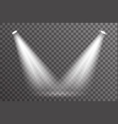 Double ray scene spotlight illumination light vector
