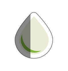 Drop nature isolated icon vector
