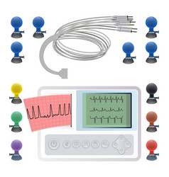 Equipment for making electrocardiogram wires vector