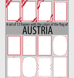 Flag v12 austria vector