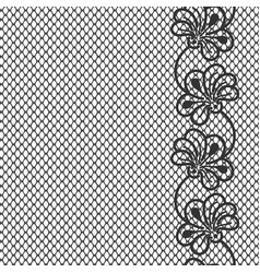 Flower lace border on white background vector