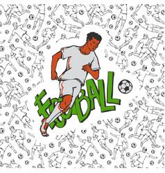 football soccer in sports uniform run with vector image