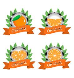 For ripe citrus fruit orange vector